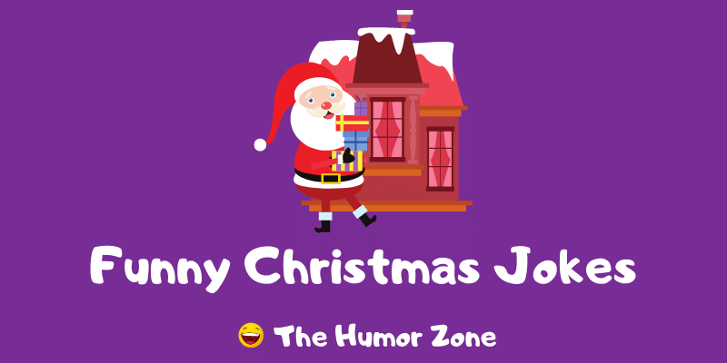 Featured image for a page of funny Christmas jokes and puns.