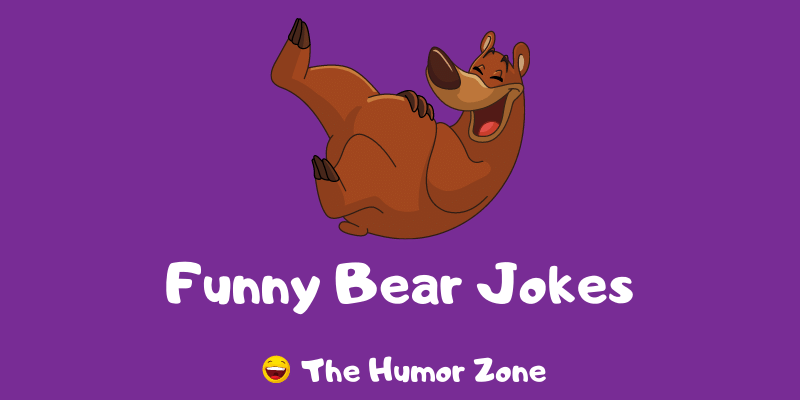 Featured image for a page of funny bear jokes and puns.
