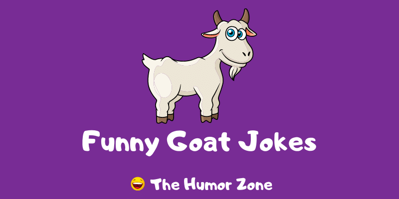 Featured image for a page of funny goat jokes and puns.