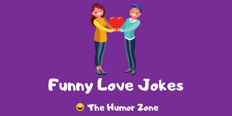 Featured image for a page of funny love jokes and puns
