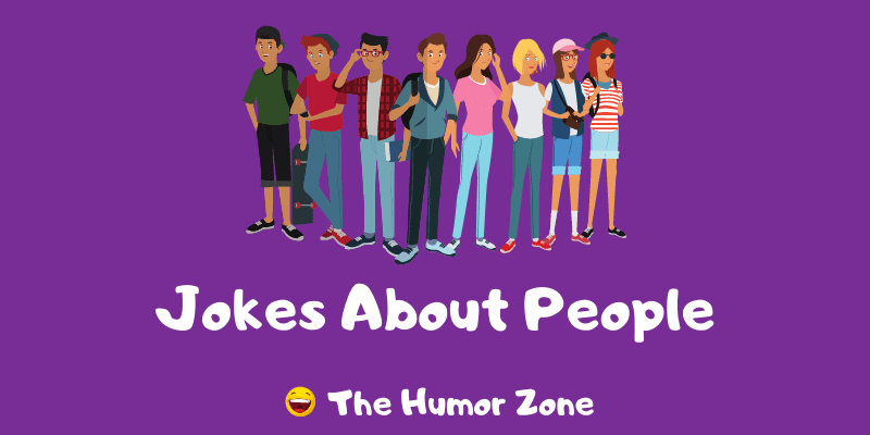 Featured image for a page of funny jokes about people.