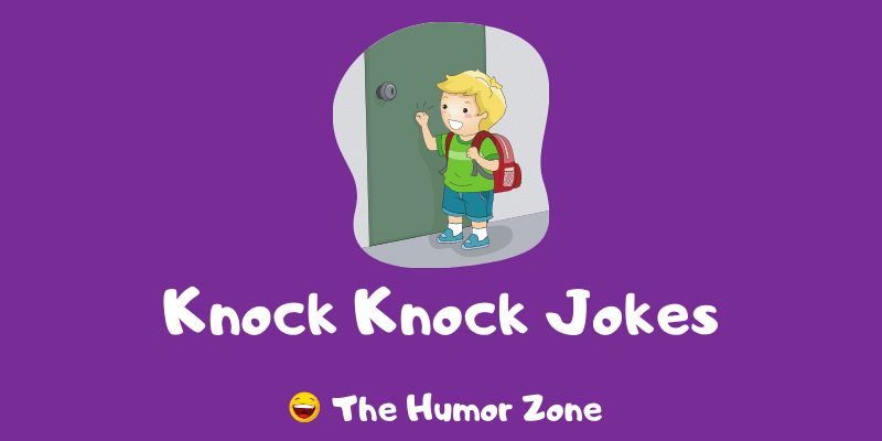 Featured image for a page of funny knock knock jokes for kids.