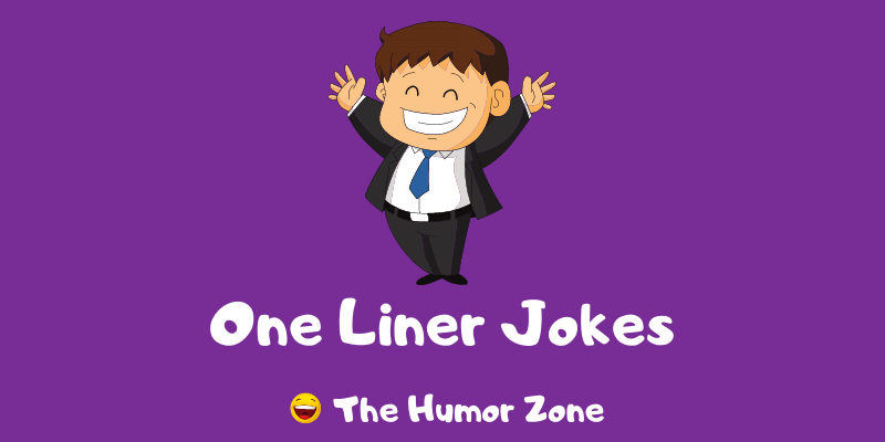 Featured image for a page of funny one liner jokes.