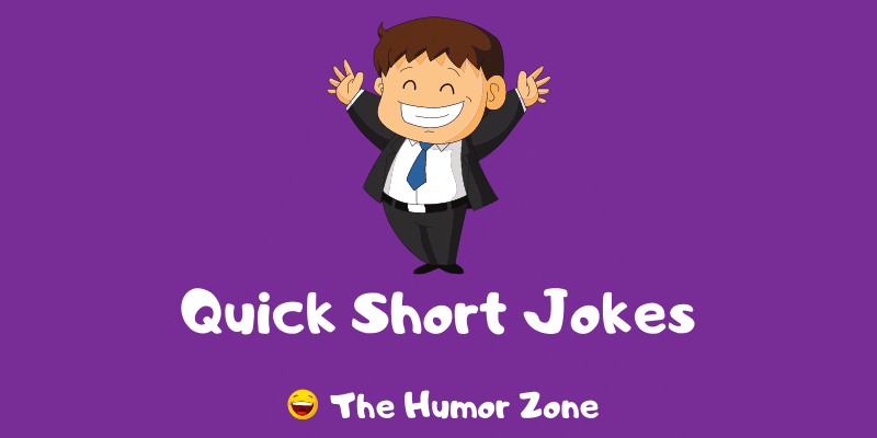 Featured image for a page of quick short jokes and puns.