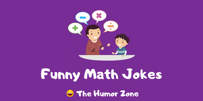 Featured image for a page of funny math jokes and puns.